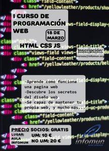 I Curso HTML, CSS y JS cartel Infomun